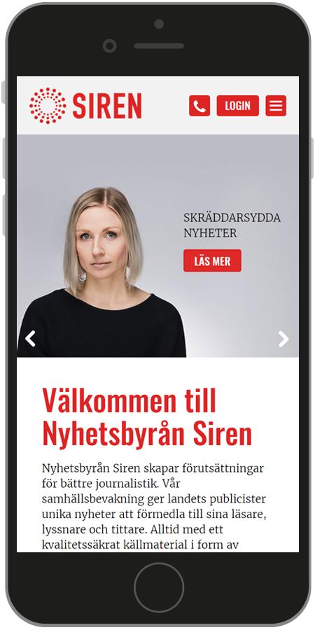 Printscreen mobil hemsida