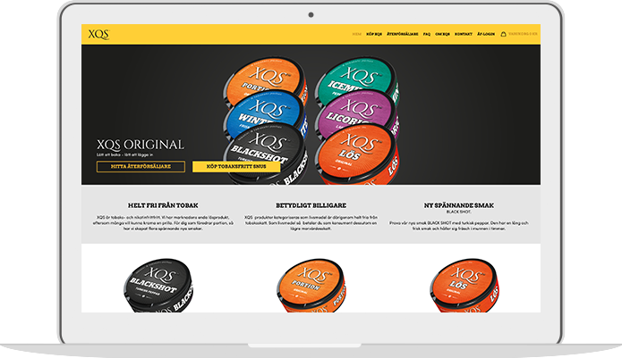 Printscreen desktop hemsida
